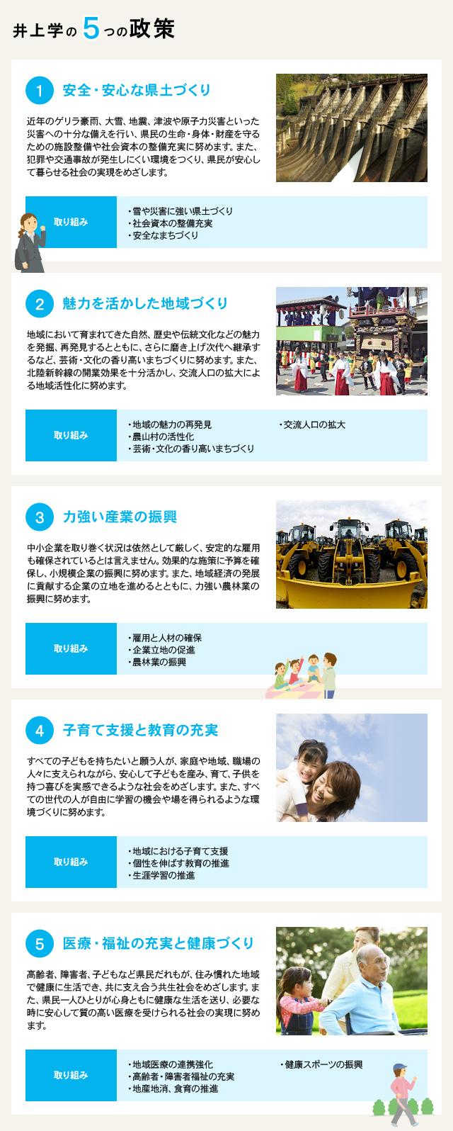 井上学の5つの政策